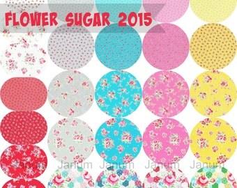 Fat quarter bundle of Flower Sugar SPRING 2015 by Lecien all 27 prints