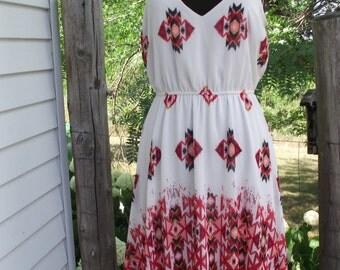 Lg HeartSoul Dress with Southwest Print-Tunic with Leggings-Nylon