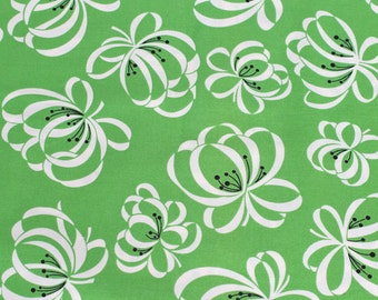 Katie Jump Rope Ribbon Flower Fairway green original release Denyse Schmidt FQ or more