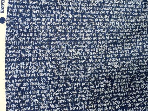 Architextures text navy Carolyn Friedlander Robert Kaufman fabric FQ or more