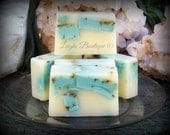 Lavender & Tea Tree Sea Salt Infused Goats Milk Herbal Soap 3 oz. Bar