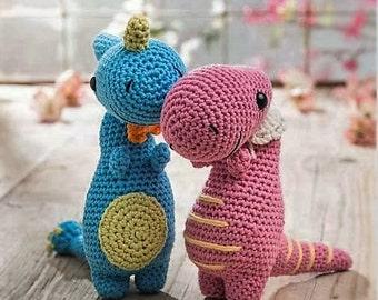 Dinosaur duo amigurumi pdf crochet pattern