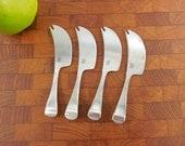 """4 Set Dansk Designs - Torun Cheese Knife Picks Spreaders - 5-1/4""""  Stainless"""
