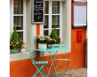 Fine Art Color Food and Travel Photography of French Bistro in Colmar