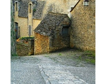 "Fine Art Color Travel Photography Village of Beynac France - ""Down the Lane in Beynac 3"""