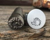 Hedgehog- Metal Stamp-Choose Size 3/8,  1/2 or 5/8  inch-Advantage Series-Professional Quality-Great on Stainless-Deep and Sharp Impression
