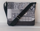 Dark Grey, Black and White Messenger