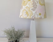 Lamp Shade Yellow and Grey Floral