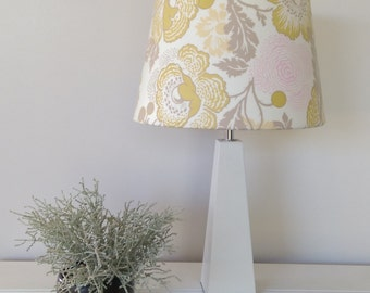 Lamp Shade Yellow and Grey Floral