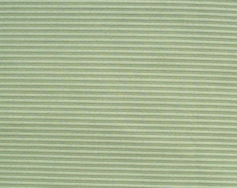 striped cotton fabric in mint green - 1 yard - msc072