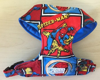 Spiderman Comfort Soft Dog Harness - Made to Order -
