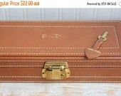 Vintage Leather Jewelry Box with Lock and Key, mens Cuff Link and Tie Clip Box, Mens Accessories