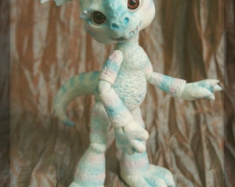 Singe the Dragon - ball joint doll BJD - custom color wingless