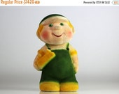 55% OFF Vintage Russian flocking toy - construction worker