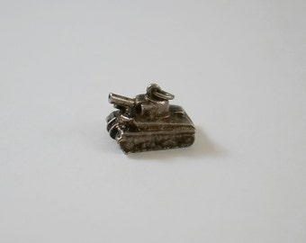 Vintage Sterling WWII Tank Charm