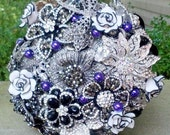 Broach Bouquet - Bridal Bouquet - Wedding Bouquet - Brooch Bouquet - Custom Bouquet - Alternative Bouquet - Crystal Bouquet - Deposit