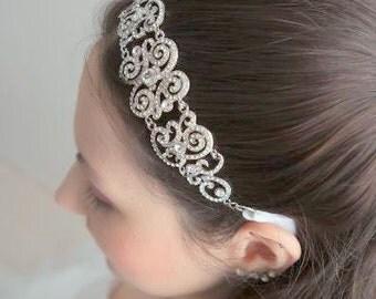 Swarovski Headband - Crystal Headband - Bridal Headpiece - Wedding Headband - Bridal Headband - Crystal Headpiece - Rhiannon