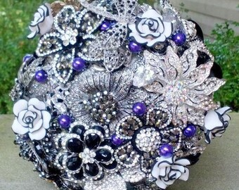 Broach Bouquet - Bridal Bouquet - Wedding Bouquet - Brooch Bouquet - Custom Bouquet - Alternative Bouquet - Crystal Bouquet - Deposit