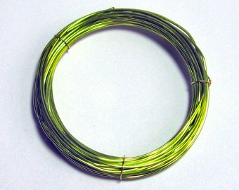 WIRE 24 gauge 10 ft. non tarnish round Sunny Meadows Green Inspire Wire