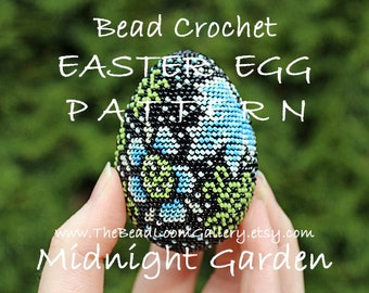 Easter Egg Pattern - Midnight Garden - Crochet PDF File TUTORIAL - Vol.23