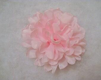 "4"" To 4.25"" Large Singed Edge Chiffon Flower Light Pink, singed flower, singed chiffon flower, light pink flower, singed light pink flower"