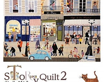 STORY QUILT 2 Apiquetd, and Quiltied  picture Book Japanese Craft Book Japanese