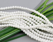550pcs WHOLESALE Pearl Beads - White Glass Pearls 8mm Round Circle Beads - Bulk Lot Pearls - White Shimmery Imitation Pearls -Jewelry Supply