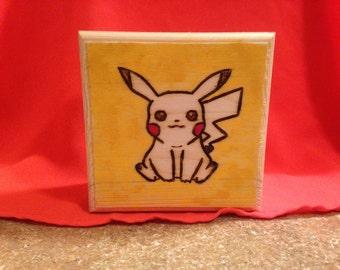 Pika! Pika! Pikachua Inspired Wood Burned Jewelry Box