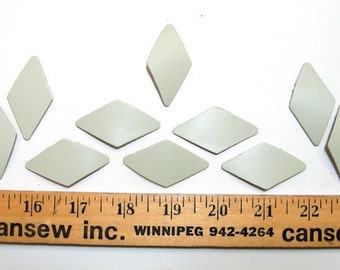 Leather die cut rhombus shapes 25 PC. C3