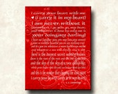 EE Cummings-Carry Your Heart - 11x14 Cafe Mount Word Art Prints - color options
