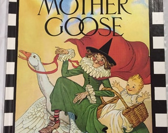 REAL MOTHER GOOSE hardback book, 128 pages, Nursery Rhymes, reprinted 1977, very clean condition, Illustrated Blanche Fisher Wright
