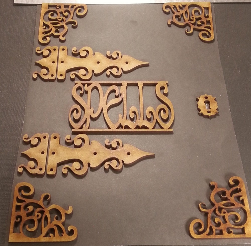 Wicca witchcraft mdf chipboard craft frame embellishments