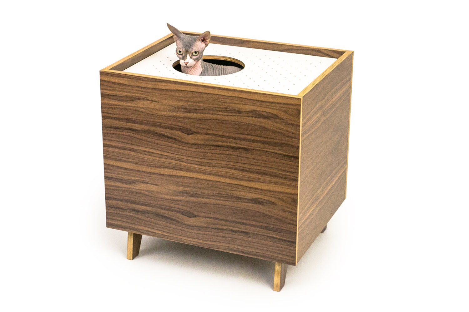 Mid century modern cat litter box furniture large cat litter for Furniture box