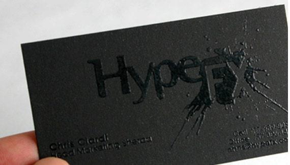 200 business cards black raised ink 14pt black matte for 200 business cards