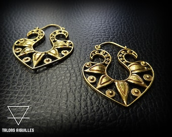 Boucles d'oreille laiton # brass earrings