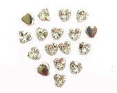 NEW 50 Rose Montees HEART shape 5mm x 5.5mm Shiny Grade AAA Rhinestone beads for Wedding Gown Jewelry Beaded Sash Shoes and Hair Accessories