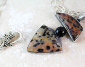 Cheetah Jasper Double Pendant in Sterling Silver