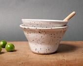 bowls white breakfast danish handmade speckled kitchen polli pots unique vessel by eeliethel scandinavian studio pottery poterie ceramica