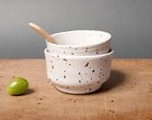 bowls white speckled danish kitchen unique vessel by eeliethel scandinavian studio pottery poterie ceramica handmade