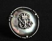 Vintage Notre Dame de Lourdes elegant antique brooch. French pilgrimage souvenir. Mother gift idea.