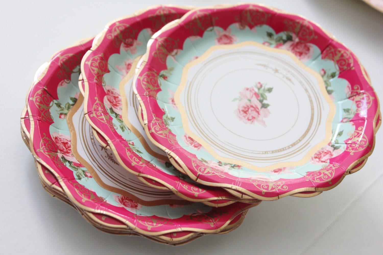 vintage style paper plates