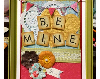 Be Mine - Over the Top Valentine's Day Card - Green Box