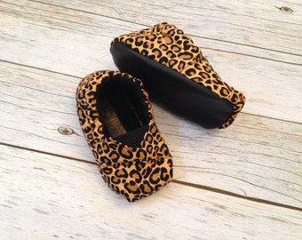 Baby shoes - Cheetah Toms Inspired Baby Shoes - Size 0-18 Months