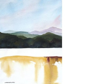 Mountain Morning - Original Watercolor Painting