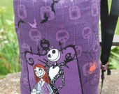 Hand Pipe Sized, Glass Pipe Bag, Jack Skellington, Nightmare Before Christmas, Pipe Cozy,  Pipe Bag, Cute Bag, Medium Pouch, 2