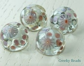 Handmade Lampwork Shank Buttons - summer - Creeky Beads