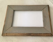 8 x 8 Picture Frame, Gray Rustic Weathered Style With Routed Edges