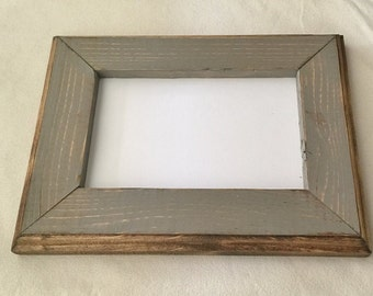 8 x 8 Picture Frame, Gray Rustic Weathered Style With Routed Edges, Home Decor, Rustic Decor, Wooden Frames, Rustic Wood Frames, Rustic Wood
