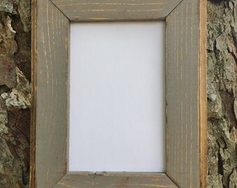 11 x 14 Picture Frame, Gray Rustic Weathered Style With Routed Edges, Home Decor, Rustic Home Decor, Wooden Frame, Rustic Frame, Rustic Wood
