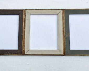 You Choose Your Colors, 8x10 Picture Frame Set, Rustic Weathered Style With Routed Edges